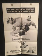 All The Way Home 1963 One Sheet Movie Poster Teen Sexploitation Jean Simmons Hot