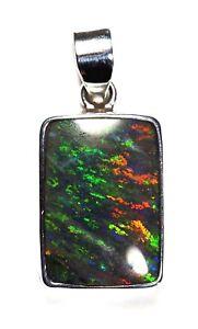 Video Australian Andamooka Matrix Opal Silver Setting Green Orange Blue Video