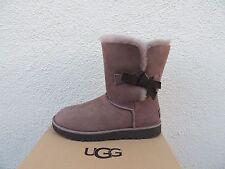UGG STORMY GREY CLASSIC KNOT SHORT SUEDE/ SHEEPSKIN BOOTS, US 7/ EUR 38 ~NIB