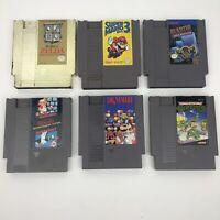 Nintendo NES Lot of 6 Good Games: Dr Mario, Duck Hunt Mario Bros, Zelda