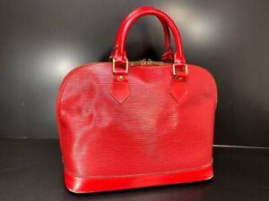 Authentic LOUIS VUITTON Epi Alma Handbag Epi Leather f57013200