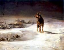 Alfred Von Wierusz Kowalski The Wolf Wilk Oil Painting repro