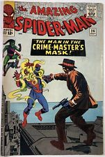 AMAZING SPIDER-MAN #26, Mid Grade! 1st appr of THE CRIME-MASTER, Nice Key Silver