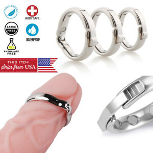 Male Glans Cock Ring Ball Magnetic Steel Penis Head Increase Orgasm Sex Toy USA