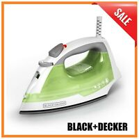 Easy Steam Iron - Compact, Anti-Drip, Nonstick Surface, Ergonomic Handle Clothes