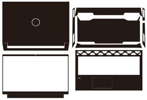 "KH Carbon fiber Laptop Sticker Skin Decal Cover for Dell Inspiron G15 5510 15.6"""