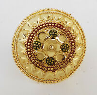 South Indian Dulhan Fashion Jewelry Ethnic Gold Plated Party Big Ring Adjustable