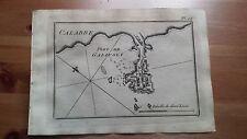 """1817 Allezard: Portolano Baia Porto di Gallipoli """"Pl 46 Port de Galipoli"""" Puglia"""
