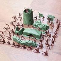 100PCS Ejército Combate Hombres Soldados Militar Plástico Figura Acción Niños !