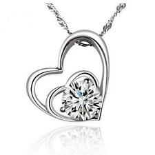 2018 New 925 silver jewelry filled with fine fashion heart-shaped necklace gifts