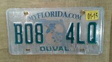 Vintage My Florida.Com State Duval Automobile License Plate Car Tag B08 4LQ