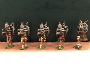 Britains: Early Scottish Bagpipers. Pre War c1900-1910