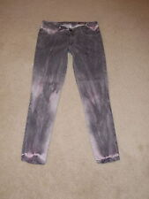 SIWY LOVESICK GRAY & PINK LOW RISE HANNAH SKINNY LEG STRETCH JEANS SIZE 27