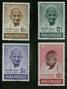 India  1949  Scott # 203-206  Mint Lightly Hinged Set