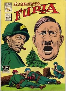 EL SARGENTO FURIA 128 AÑO 1972 WWII COVER EXCELLENT COPY LA PRENSA SPANISH COMIC