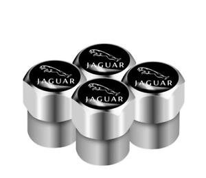 Jaguar XF XE XJ XJ6 S X E F-Pace F-Type XKR Aluminum Valve Cap SILVER Wheel Tyre