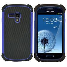 kwmobile Hybrid Schutz Hülle für Samsung Galaxy S3 Mini Blau Schwarz Case Cover