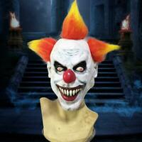 Halloween Scary Clown Latex Mask Full Face Costume Cosplay Evil Creepy Hor New