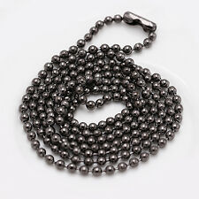 CH Military Dog Tag Mens Stainless Steel Pendant Ball Bead Chain Necklace Army
