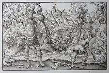 HOLZSCHNITT DAVID & GOLIATH 16. JAHRHUNDERT DERSCHAU SAMMLUNG VOM HOLZDRUCKSTOCK