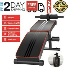 Sit Up Bench Decline Abdominal Fitness Home Gym AB Workout Exercise Equipment US