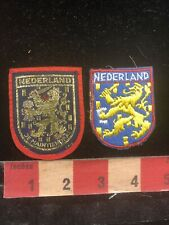 Lot Of 2 Different NEDERLAND Coat Of Arms The Netherlands Patch 96AH