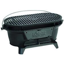 Lodge Logic Pre-Seasoned Sportsmans Charcoal Grill BBQ Outdoor Hibachi Cast Iron
