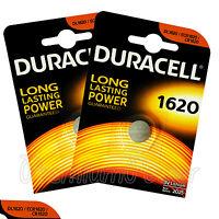 2 x Duracell Lithium CR1620 3V Coin Cell batteries DL1620 ERC1620 KRC EXP:2025