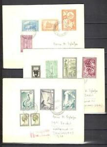 Greece 1951 3 FDC Mi. 1500 Euro   classic old collection