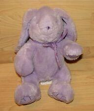 "Mary Meyer 12"" Bunny Rabbit Plush Lilac Purple Lavendar Stuffed Animal Soft"