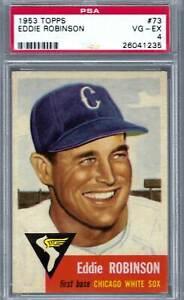 1953 Topps #073 PSA 4 Eddie Robinson White Sox 73
