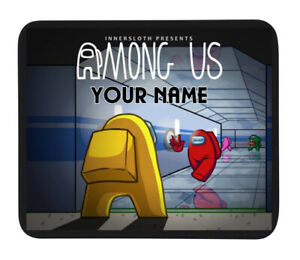 PERSONALISED (AMONG US IMPOSTER) CUSTOM NAME GAME MOUSE MAT / PAD  - PC / Laptop