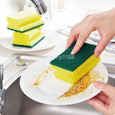 5Pcs Washing Sided Cleaning Dish Scrub Kitchen Wipe Brush Sponge Scouring US