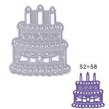Candle Cake Die Cuts Metal Cutting Dies Scrapbooking Embossing Folder Card Decor