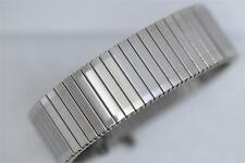 17mm - 22mm STAINLESS STEEL FIXO-FLEX STYLE.SATIN MATT EXPANDING  WATCH BRACELET