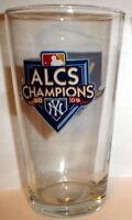 2009 ALCS WORLD SERIES PINT GLASS NY YANKEES #1 al champs