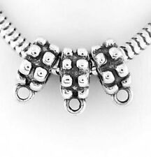 3 SILVER DANGLE BEAD HOLDER TO FIT CHARMS EUROPEAN BEAD
