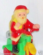 Working Old Wind-up Mechanical Riding Santa Hong Kong! 1960-70s T048015