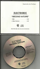 New Order & The Smiths ELECTRONIC Second nature EDIT PROMO CD Single Johnny Marr