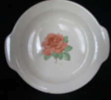 """Rose Pattern Transferware Handled 10 1/2"""" Plate unmarked Very Old"""