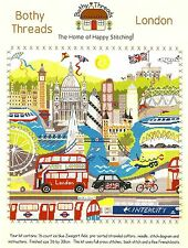 BOTHY THREADS LONDON COUNTED CROSS STITCH KIT BIG BEN TOWER BRIDGE - NEW