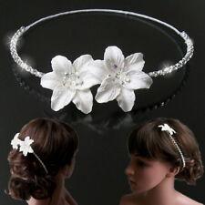 Diadema Novia Boda Blanco Flores Estrás Diadema Comunión Niñas Flores H5155