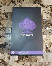 "The Joker DC Comics SIDESHOW HOT TOYS 1/6 Scale 12"" MIB"