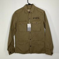 Zara Man Olive Green Size Small Army Military Inspired Jacket
