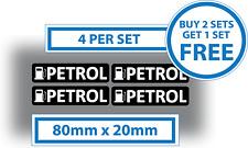 4 X Pegatinas De Gasolina Pegatina de advertencia de recordatorio de Combustible Coche Furgoneta Vinilo Calcomanía 80x20mm