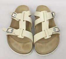 Birkenstock Birki's NIAS Ivory Pearl Color Sandals Shoes W/ Removable Strap L7