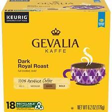 New listing Gevalia Dark Royal Roast K-Cup Coffee Pods (72 Pods, 4 Packs of 18)