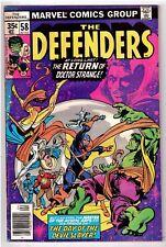 The Defenders #58 [April 1978] Marvel Comics Dr. Strange Valkyrie Hellcat Gd