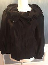 NWT Fall Black St John blazer coat Jacket top Small career wear formal church