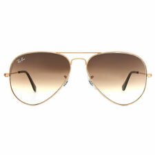 Ray-Ban Unisex Rb3025 Aviator Sunglasses 55mm Gold 55 Mm